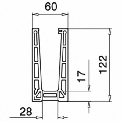 155cd4b8842 QRAIL EGS Pro profiil põrandale kinnitus pikkus 2,5m toon alumiinium ...